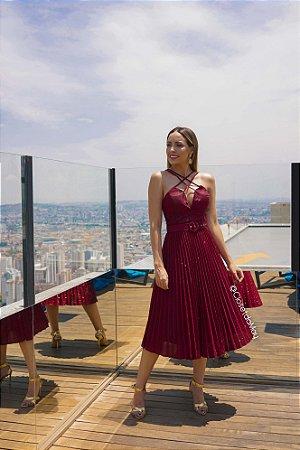 vestido de festa midi de lurex, com cinto, bojo, para madrinhas, convidadas, aniversariante