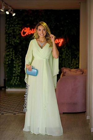 vestido de festa longo manga, com faixa, para madrinhas, convidadas, formanda