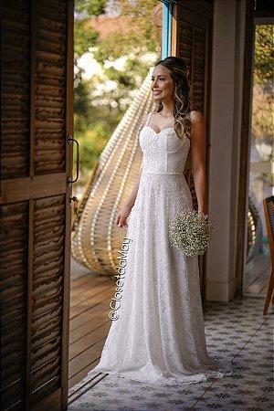 vestido de noiva longo decote coração, com tule, bojo, alça, para casamento, pre wedding, bojas