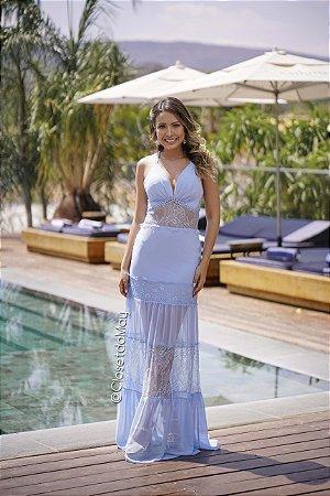 vestido de festa longo chiffon, com bojo, alça, para madrinhas, convidadas