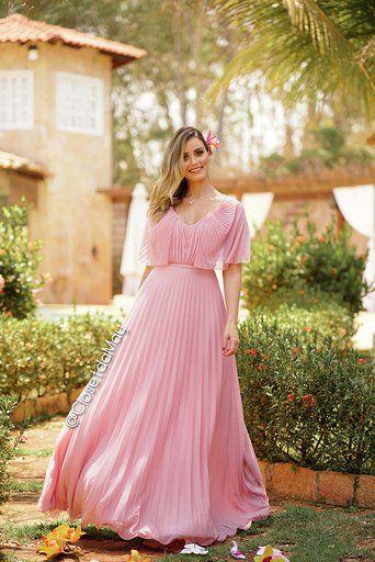 vestido de festa longo com mangas, plissado em tule com gliter, para comemorações, casamentos