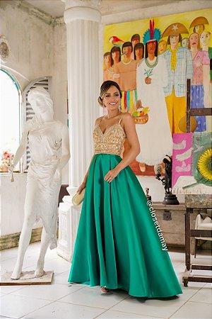 vestido de festa longo, bordado em pedrarias, alças finas, modelo princesa, para formandas, debutantes