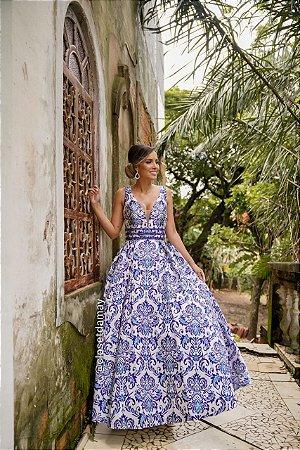 vestido de festa longo, com bordado, estampado, para formandas, madrinhas, debutantes