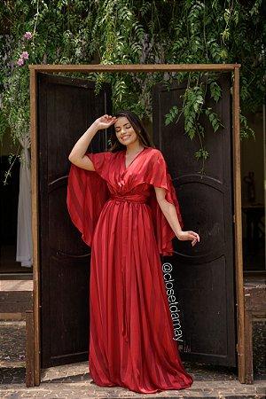 vestido de festa longo, tamanho unico, com amarração ajustável, capa fluida, para madrinhas, convidadas