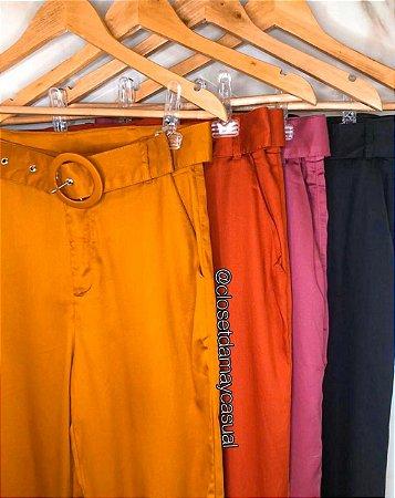 calça liocel com cinto elastico