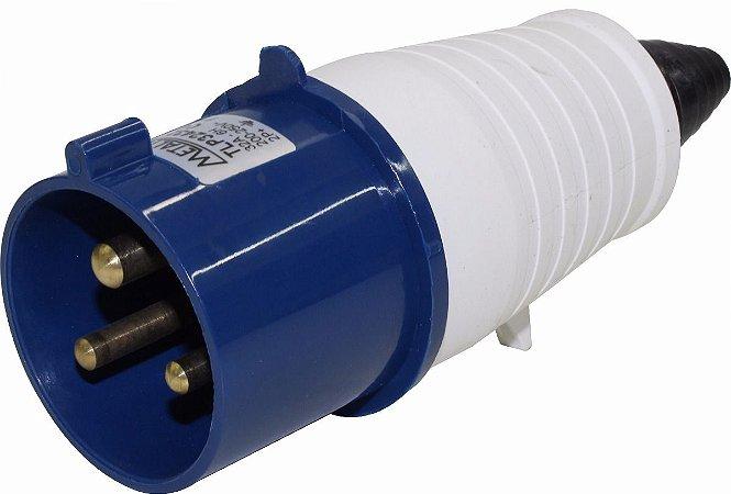 Plug Macho 32A 2P+E 6H Azul Metaltex