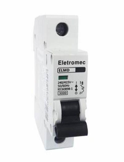 DISJUNTOR CURVA C 1X25A 3KA | ELETROMEC