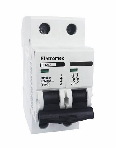 DISJUNTOR CURVA C 2X25A 3KA | ELETROMEC