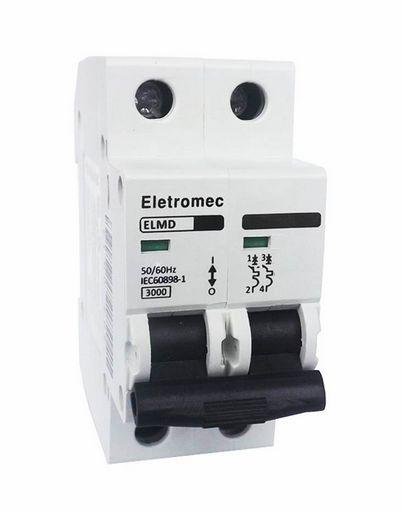 DISJUNTOR CURVA C 2X6A 3KA | ELETROMEC