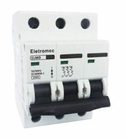 DISJUNTOR CURVA C 3X10A 3KA | ELETROMEC