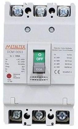DISJUNTOR CAIXA MOLDADA 3x63A 100KA | METALTEX