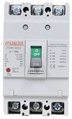 DISJUNTOR CAIXA MOLDADA 3x70A 100KA | METALTEX