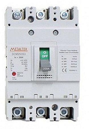 DISJUNTOR CAIXA MOLDADA 3x200A 100KA | METALTEX