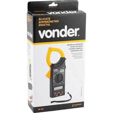 ALICATE AMPERÍMETRO DIGITAL AAV1000   VONDER