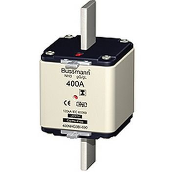FUSÍVEL gL 400A 500VAC NH00 DIN43620   Eaton/Eletromec