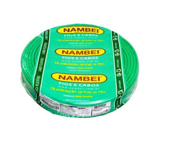 ROLO CABO FLEX 1,5MM VERDE NAMBEI