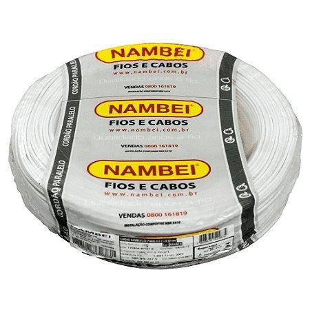 ROLO CABO FLEX 1,5MM BRANCO NAMBEI