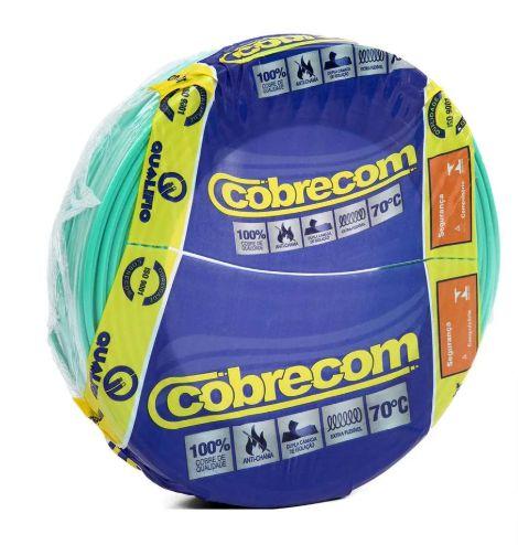ROLO CABO FLEX 10,0MM VERDE COBRECOM