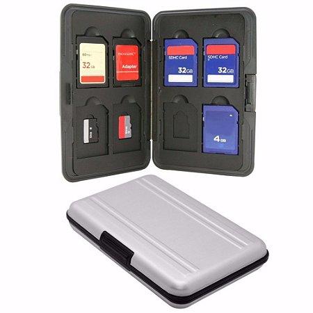 Case De Alumínio Porta Cartão de Memória SD e Micro SD