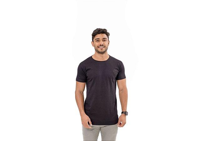 Camiseta Casual Masculina Preta Maori