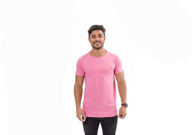 Camiseta Casual Masculina Rosa Maori