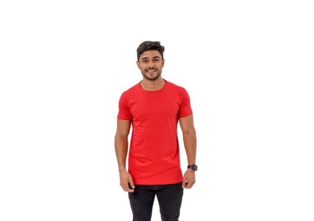 Camiseta Casual Masculina Vermelha Maori