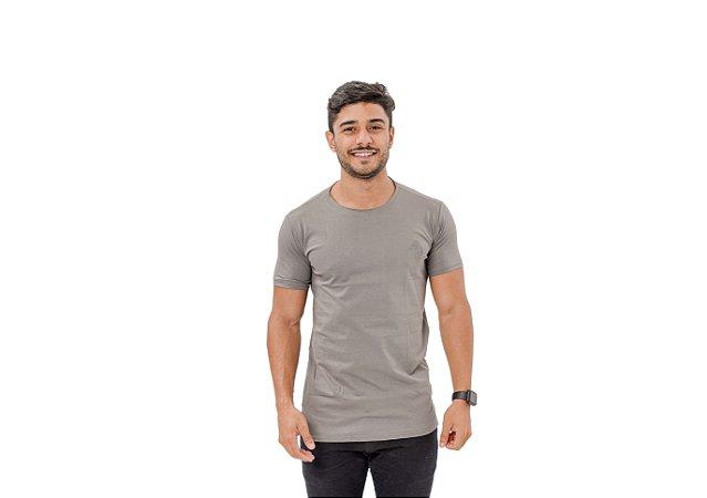 Camiseta Casual Masculina Cinza Maori