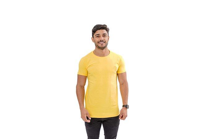 Camiseta Casual Masculina Amarela Maori