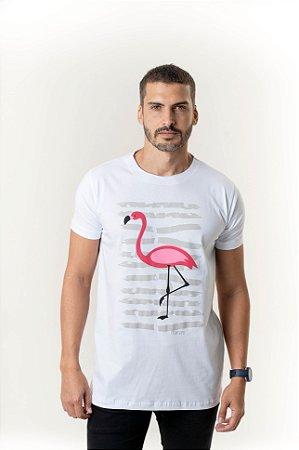 Camiseta Branca Maori Flamingo