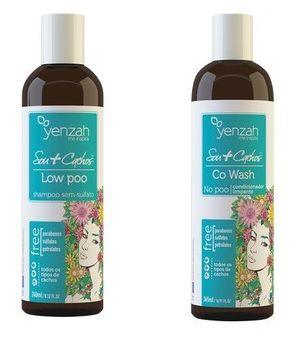 COMBO DUO Sou+Cachos - Low Poo Shampoo +  Co-Wash Condicionador Limpante - Yenzah