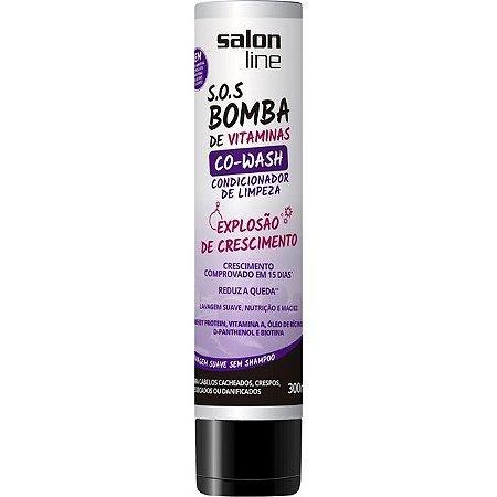 Salon Line - S.O.S. Bomba de Vitaminas - Co-Wash - Condicionador de Limpeza! - 300ml