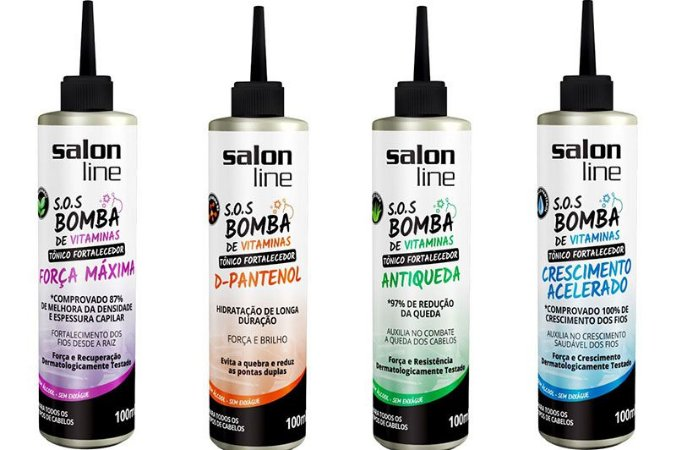 #To de Cacho COMBO S.O.S Bomba de Vitaminas - Blend Completo 4 Tônicos -  Salon Line