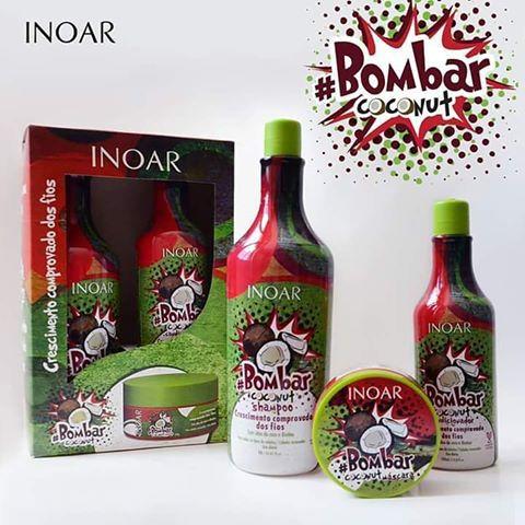 Inoar - Kit #BombarCoconut Shampoo (1L), Condicionador (500ml) e Máscara Hidratação (250g)