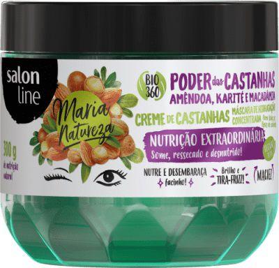 Salon Line Máscara Poder das Castanhas - Maria Natureza - 300g