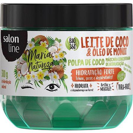 Salon Line Máscara Leite de Coco e Óleo de Monoi - Maria Natureza - 300g