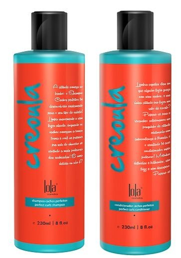 DUO Shampoo + Condicionador Creoula Cachos Perfeitos 230ml - Lola Cosmetics