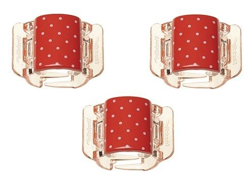 Linziclip MINI - Cartela com 3 - Polka Dot Jazzy Red