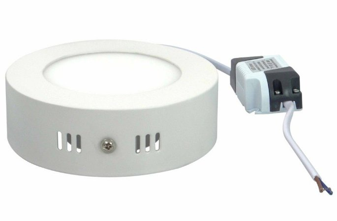 Plafon Led Sobrepor Redondo 6W Branco Quente e Frio 110-220v