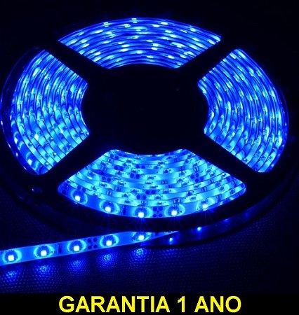 Fita Led Azul 3528 12v Rolo 5 Metros Ip65
