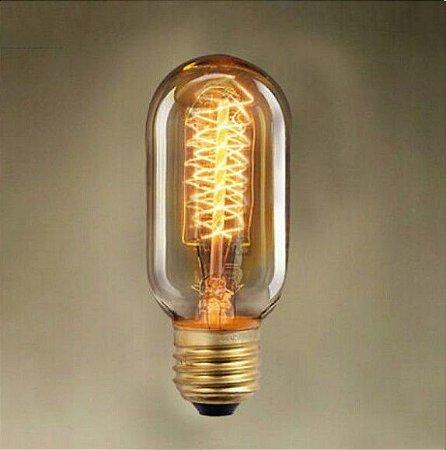 Lâmpada Filamento de Carbono 40w 110v E27 T45 Retrô