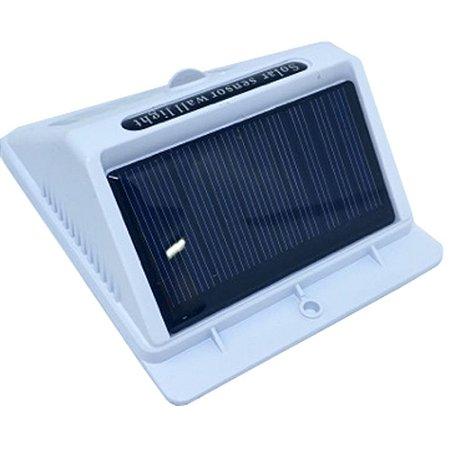 Luminária Solar 25 Leds Com Sensor De Presença E Movimento Branca