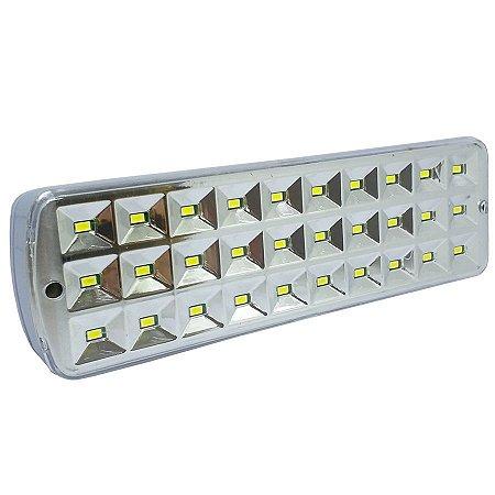 Luminária De Emergência Recarregável 30 Leds Branco Frio