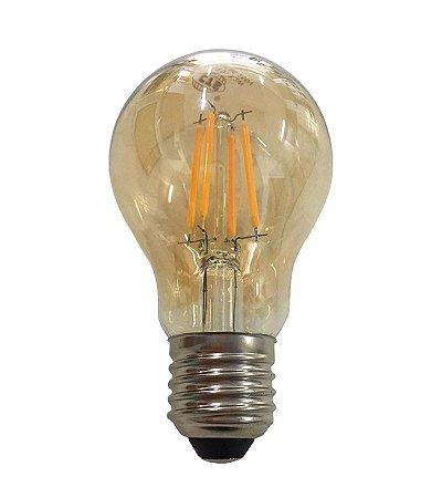 Lâmpada Led Bulbo E27 A60 4w Branco Quente Filamento Âmbar 110-220V