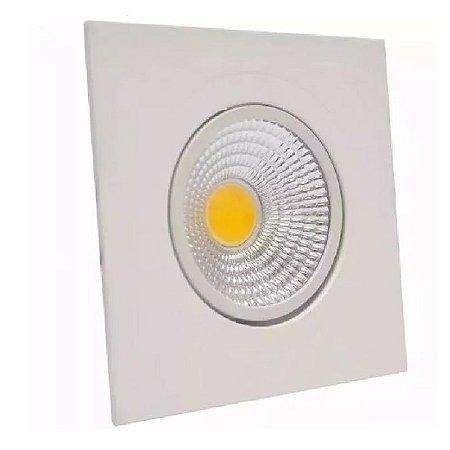 Spot Led Dicróica Cob 5w Direcionável Branco Frio Quadrado
