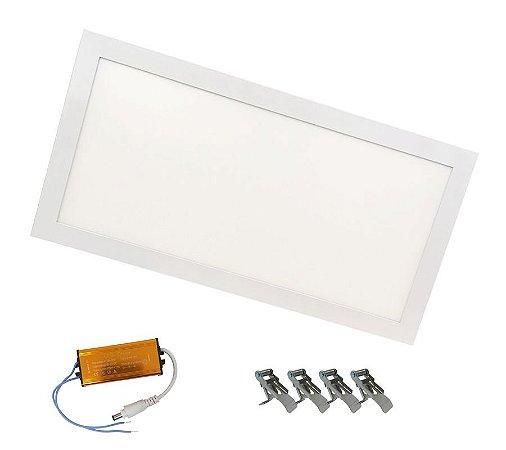Plafon Led Embutir 36w 30x60 Branco Frio, Branco Quente e Branco Neutro Slim Bivolt