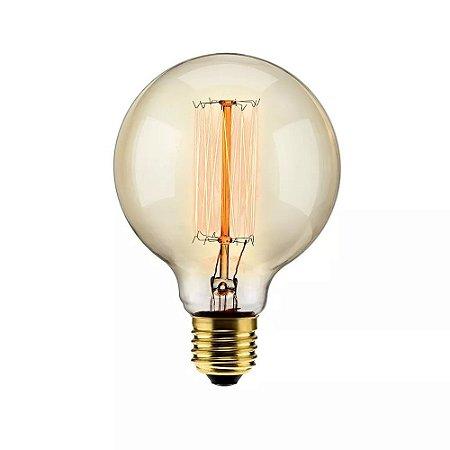 Lâmpada Filamento de Carbono 40w 110v E27 Elgin G95 Retrô