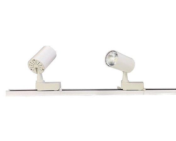 Trilho Eletrificado 1m + 2 Spot Led 7w Branco Quente e Branco Frio Bivolt