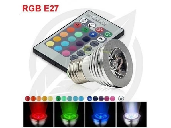 Lâmpada Led RGB 3W E27 com Controle