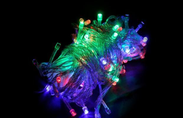 Pisca Led de natal Colorido (RGB) Luz Fixa 20w 10m 220v 100leds