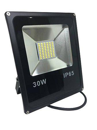 Refletor Led smd 30W Holofote Bivolt Prova D'agua Diversas Cores